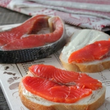 1. Stage. Sockeye salmon is ready, if you like very salted then one day is enough.