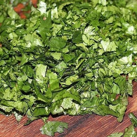 1. Stage. Finely chop the cilantro.