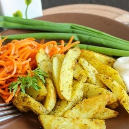 1. Этап. Картофель немного охладите и можно подавать.