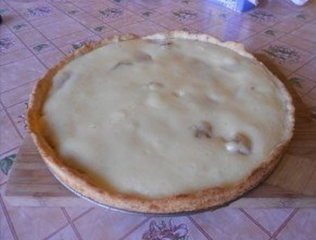 1. Stage. <strong>The banana pie is</strong> ready, you can serve both warm and cold.