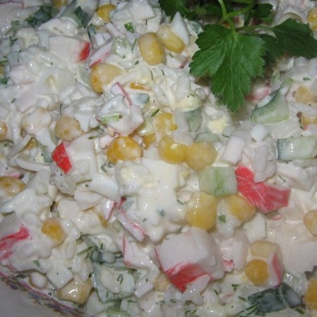 1. Stage. <strong>Crab salad</strong> mix well and can be served.