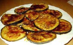 1. Stage. Fry eggplant in vegetable oil until golden brown.